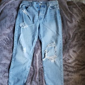 Light blue mom jeans from forever 21